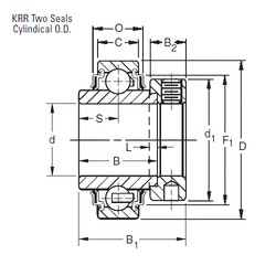 Timken 1112KRR deep groove ball bearings