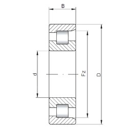 ISO NF18/670 cylindrical roller bearings