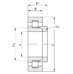 ISO NH218 cylindrical roller bearings