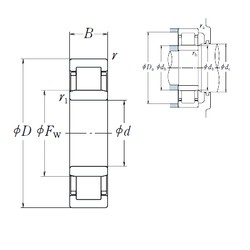 NSK NU1006 cylindrical roller bearings