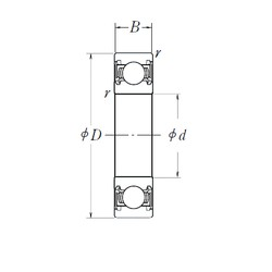NSK B10-50DD deep groove ball bearings