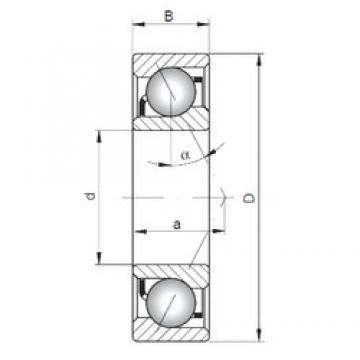 ISO 7316 C angular contact ball bearings