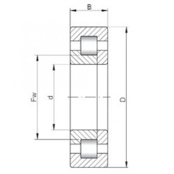 ISO NUP2203 cylindrical roller bearings