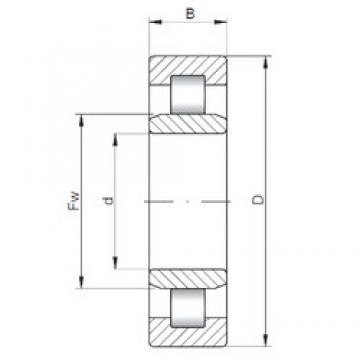 ISO NU210 cylindrical roller bearings