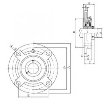 ISO UCFC206 bearing units
