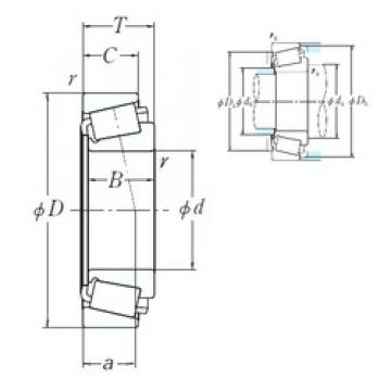NSK LM739749/LM739710 cylindrical roller bearings