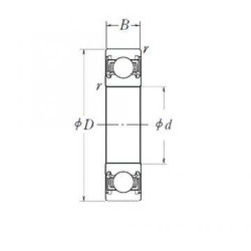 NSK 6015DDU deep groove ball bearings
