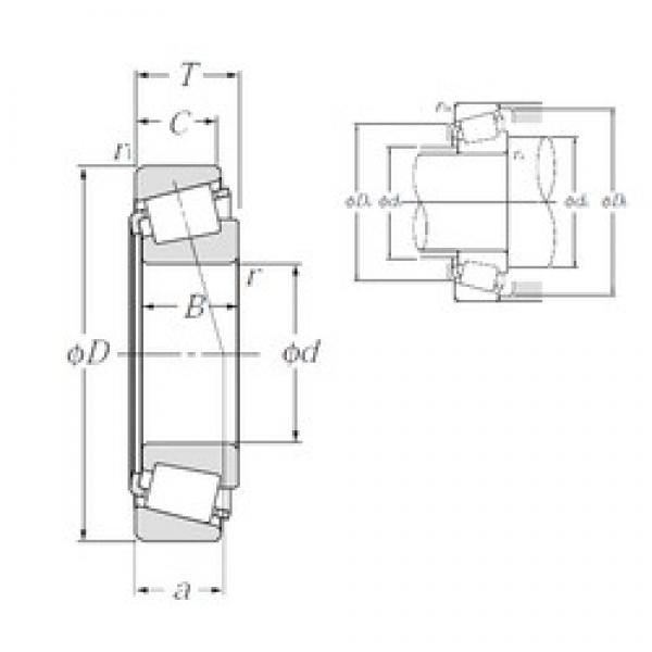NTN 4T-555/552A tapered roller bearings #1 image